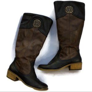 BARETRAPS Western rustic riding boots lined warm